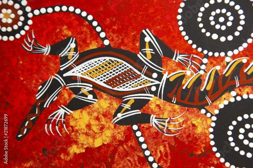 Aboriginal style design Canvas Print