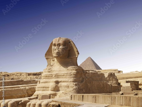 In de dag Egypte spinx of gizeh - Pyramid of Kairo
