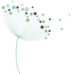 Panel Szklany Do biura vector flower
