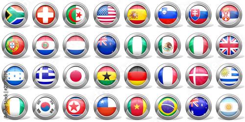Icone Bandiere Mondiali di Calcio Sud Africa 2010