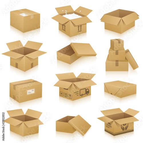 Fotografie, Obraz  Verpackungen, Kartonnagen