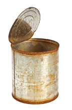 Rusty Tin Can With Top Opened ...