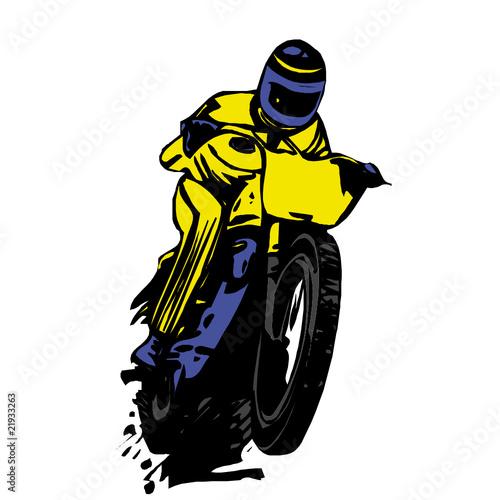 Poster Motocyclette moto, vecteur
