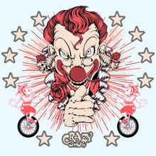T-Shirt Print Clown