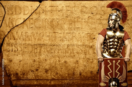 Fotografie, Obraz  Roman letters texture
