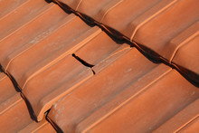 Gable Roof With Broken Clay Brick