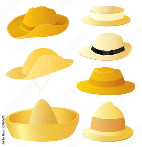 Men's hat set Canvas Print