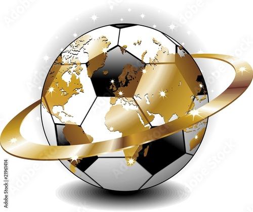Pallone da Calcio Mappamondo-Vector