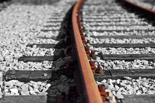 Eisenbahngleise Fototapete