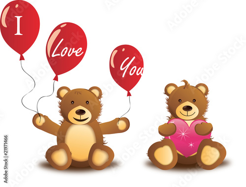 Wall Murals Bears love teddy bears