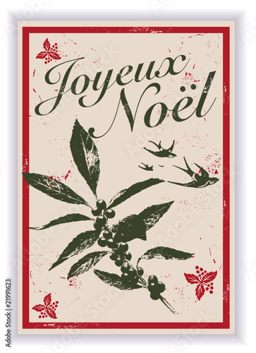 Image Carte Noel Vintage.Carte De Noel Vintage Buy This Stock Vector And Explore