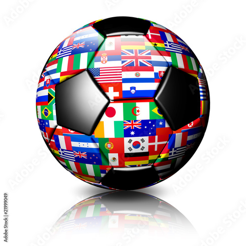 Pallone Calcio Sud Africa 2010-South Africa 2010 Soccer Ball-3d