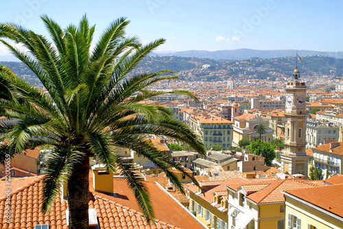 Spoed Foto op Canvas Nice Bird view of Nice city, France