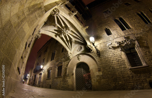 Carrer del Bisbe at night #22002030