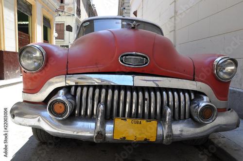 Deurstickers Cubaanse oldtimers Oldtimer in Havanna