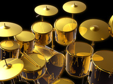Drumset  Gold