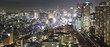 Panorama Tokyo City in Japan at night from high above