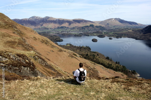 Derwent Water from Catbells Wallpaper Mural