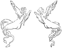Abstract Vector Image Of Myth Creatures