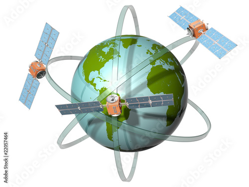 Satellite communication Canvas Print