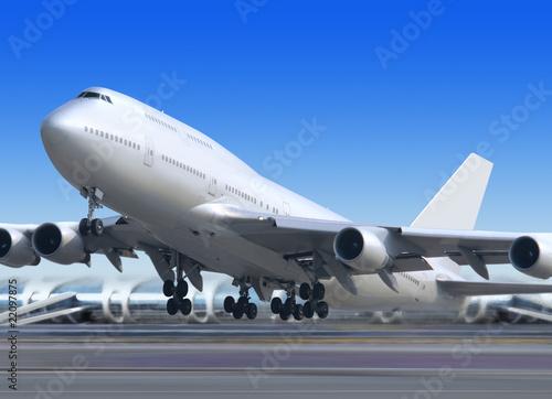 Türaufkleber Flugzeug get away