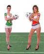 WM 2010 Spiel Brasilien - Nordkorea mit Rasen