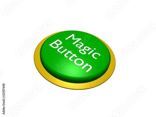 Fototapety, obrazy: 3D Green Magic Button