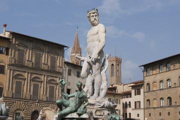 Fototapeta na wymiar Fontana del Nettuno - Firenze