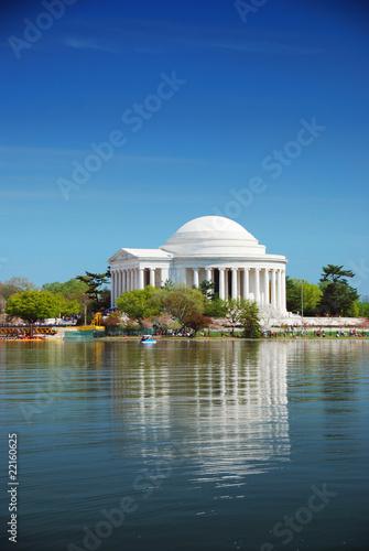 Fotobehang Kersenbloesem Jefferson national memorial, Washington DC