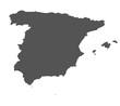 canvas print picture - Karte von Spanien - freigestellt