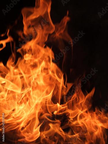 Fotobehang Vuur Feuer und Flammen