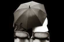 Lovers Under Umbrella