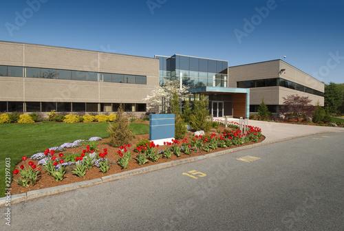 Staande foto Industrial geb. Modern commercial building located in industrial park