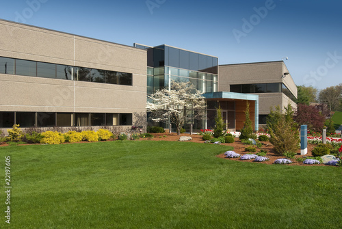 Deurstickers Industrial geb. Modern commercial building located in industrial park