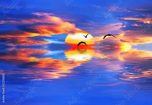 Acrylic Prints puesta de sol de colores