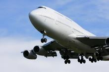 Boeing 747 Jumbo Jet In Flight.