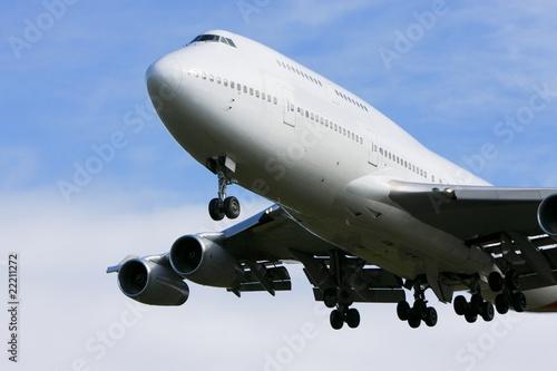 Papel de parede  Boeing 747 jumbo jet in flight.