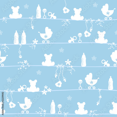 Seamless Pattern Boy Blue #22219042