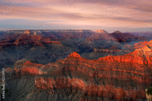 Poster Corail Grand Canyon Sunrise