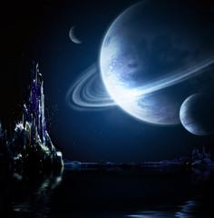 Fototapeta mroczna kosmiczna kraina