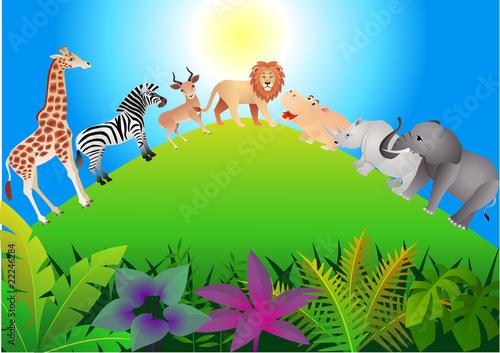Foto op Aluminium Zoo Animal Africa