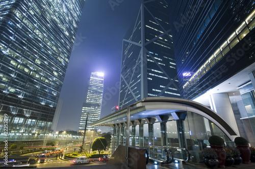 Modern skyscraper building on Hong Kong Island. Poster