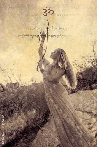 Fotografie, Obraz  Yoga Goddess Invitation