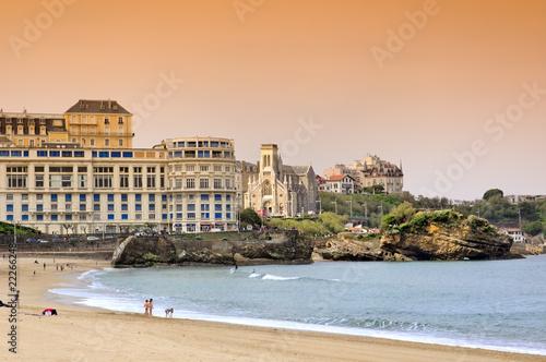 grande plage de Biarritz Canvas Print