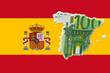 canvas print picture - spanien euro