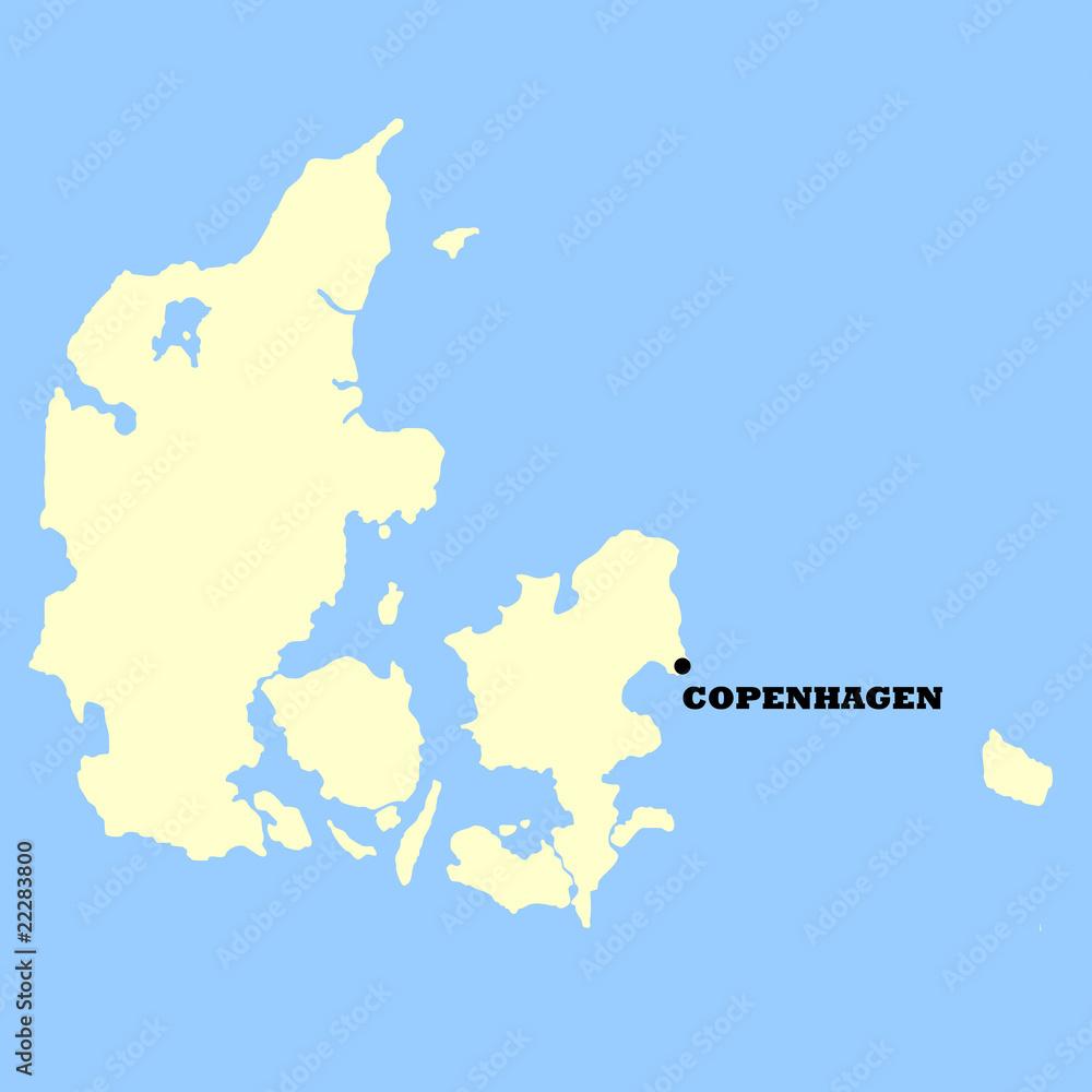 Denmark map Foto, Poster, Wandbilder bei EuroPosters on
