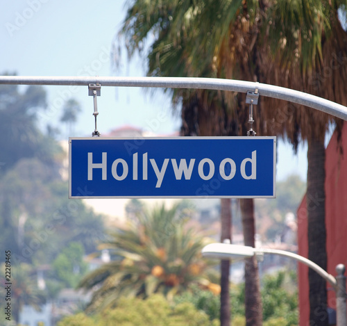 Fotografie, Obraz  Hollywood Bl Sign