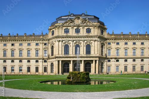 Die fürstbischöfliche Residenz zu Würzburg Canvas Print