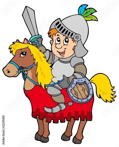 rycerz-kreskowka-siedzi-na-koniu