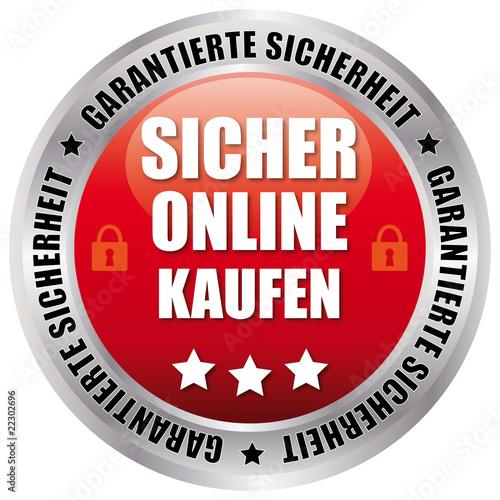 Fotografie, Obraz  Sicher Online Kaufen - Garantierte Sicherheit - rot